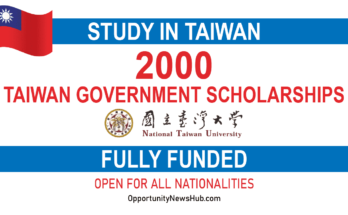 Taiwan Government Scholarships