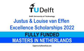 TU Delft Excellence Scholarship 2022